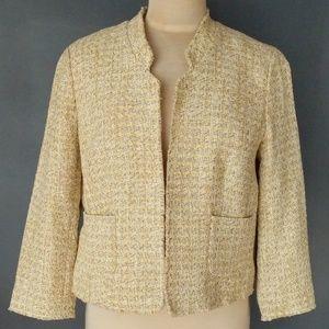Fringe edge jacket with front pockets